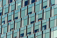 Windows on a modern office building in Bucharest