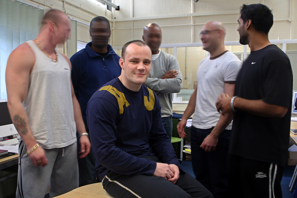 The designers of Barbed design in the studio. They receive the minimum wage, they pay tax, national insurance, contribute to the prison and can support family outside. . HMP Coldingley, Surrey was built in 1969 and is a Category C training prison. Coldingley is focused on the resettlement of prisoners and all prisoners must work a full working week within the prison. Its capacity is 390 prisoners.