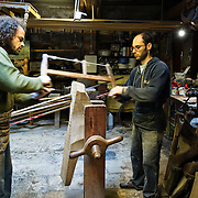 """Venice Traditional wood furnitures, in particular """"forcole"""" and """"remi""""  at  Succ, G Carli di Paolo Brandolisio..HOW TO BUY THIS PICTURE: please contact us via e-mail at sales@xianpix.com or call our offices in Milan at (+39) 02 400 47313 or London   +44 (0)207 1939846 for prices and terms of copyright.."""