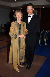 VIRGINIA McKENNA and her son WILL TRAVERS at the charity Vanishing Herd Foundation - Conservation Ball held at the Radison Hotel, Portman Square, London on 13th November 2004.<br />