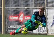 Christoffer Petersen (FC Helsingør) under opvarmningen til kampen i 2. Division mellem Slagelse B&I og FC Helsingør den 6. oktober 2019 på Slagelse Stadion (Foto: Claus Birch).