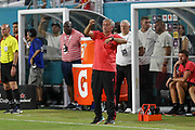 Manchester United Manager Jose Mourinho gestures during the International Champions Cup match between Manchester United and Real Madrid at the Hard Rock Stadium, Miami, United States on 31 July 2018. Picture by Phil Duncan.