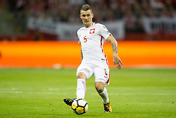 October 8, 2017 - Warsaw, Poland - Krzysztof Maczynski of Poland in action during the FIFA World Cup 2018 Qualifying Round Group E match between Poland and Montenegro at National Stadium in Warsaw, Poland on October 8, 2017  (Credit Image: © Andrew Surma/NurPhoto via ZUMA Press)