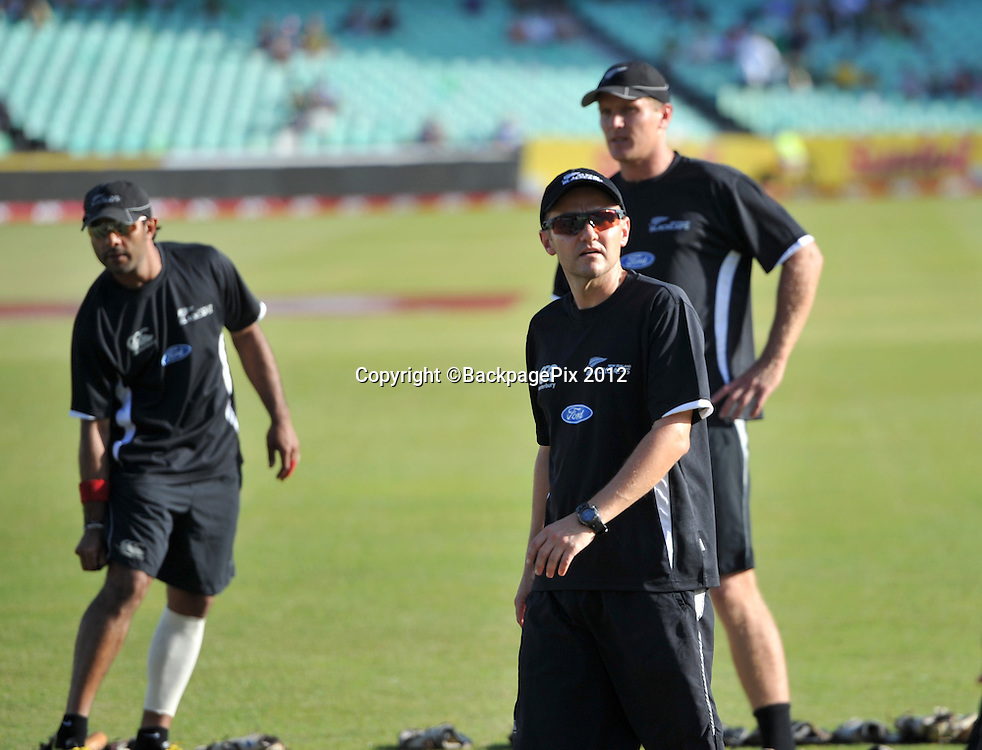 New Zealand coach Mike Hesson during the 2012 New Zealand Tour South Africa cricket International T20 match between South Africa and New Zealand at the Kingsmead Stadium  in Durban , December 21 , 2012<br />   <br /> <br /> &copy; Sabelo Mngoma/BackpagePix