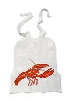 Lobster bib on white background