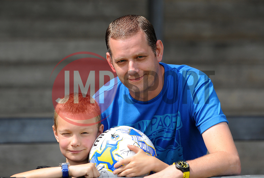 Bristol Rovers fans - Photo mandatory by-line: Neil Brookman/JMP - Mobile: 07966 386802 - 18/07/2015 - SPORT - Football - Bristol - Memorial Stadium - Pre-Season Friendly