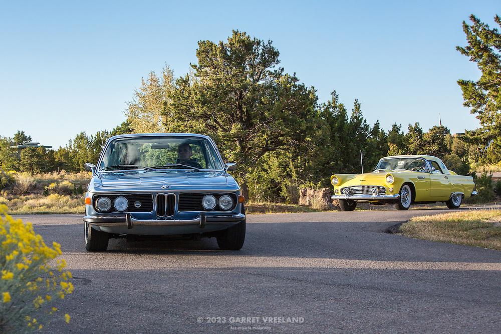 BMW 3.0 CS and Ford Thunderbird, 2012 Santa Fe Concorso High Mountain Tour.