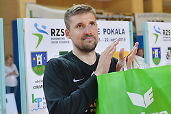 Lesjak Urban of RK Celje Pivovarna Lasko during handball match between RK Krka and RK Celje Pivovarna Lasko in the Final of Slovenian Men Handball Cup 2018, on April 22, 2018 in Sportna dvorana Ljutomer , Ljutomer, Slovenia. Photo by Mario Horvat / Sportida