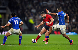 Brad Barritt of England puts in a grubber kick - Photo mandatory by-line: Patrick Khachfe/JMP - Mobile: 07966 386802 22/11/2014 - SPORT - RUGBY UNION - London - Twickenham Stadium - England v Samoa - QBE Internationals