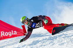Michael Trapp of USA competes during Qualification Run of Men's Parallel Giant Slalom at FIS Snowboard World Cup Rogla 2015, on January 31, 2015 in Course Jasa, Rogla, Slovenia. Photo by Vid Ponikvar / Sportida