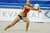 Volleyball, Sandvolleyball, World Tour Stavanger, Grand Slam, 29/06-05,<br />Kristine Wiig,<br />Foto: Sigbjørn Andreas Hofsmo, Digitalsport