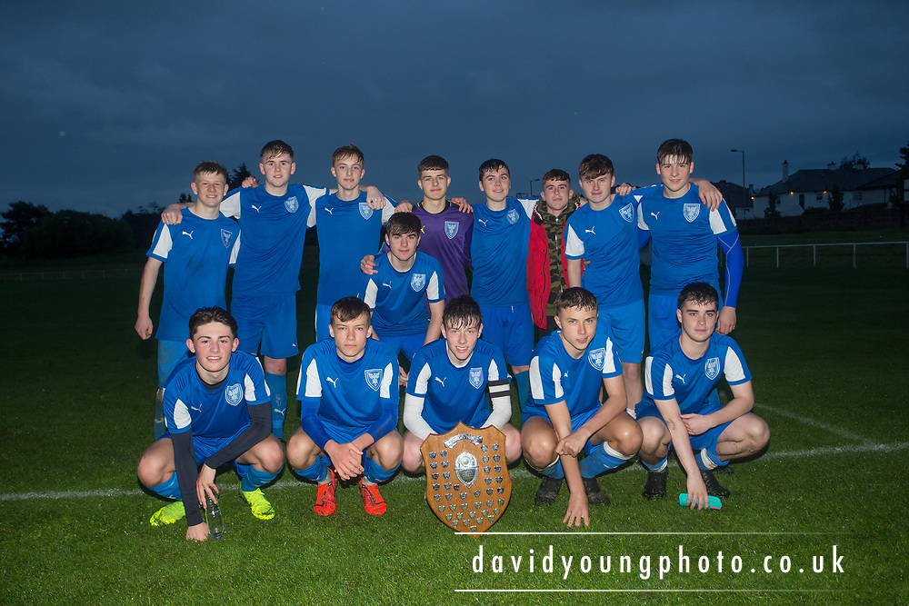 St.John's with the trophy after their win over Grove - St.John's v. Grove - Arab Trust DSA Senior Champions League Final at East Craigie