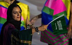 05-08-2016 BRA: Olympic Games day -1, Rio de Janeiro<br /> Openingsceremonie van de Olympische Spelen in Rio / dans, muziek, show en eenboodschap aan de wereld - Afganistan