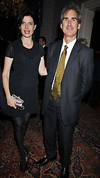 Ronni Ancona and her husband DR GERARD HALL at a party to celebrate the publication of Gosling - Classic Design for Contemporary Interiors by Tim Gosling held at William Kent House, The Ritz Hotel, London on 1st October 2009.