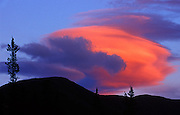 Lenticular cloud at sunset<br /> Near Whitehorse<br /> Yukon<br /> Canada