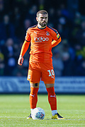 Luton Town forward Elliot Lee (10) waiting to kick-off during the EFL Sky Bet League 1 match between Luton Town and Oxford United at Kenilworth Road, Luton, England on 4 May 2019.