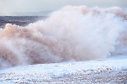 Big waves hit Budleigh Salterton beach on Thursday 29th November 2018.