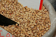 pistachio nuts, at an outdoor market, Akko, Israel