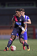U21 Newcastle United's Ivan Toney (captain) during the Barclays U21 Premier League match between U21 Brighton and Hove Albion and U21 Newcastle United at the Checkatrade.com Stadium, Crawley, England on 23 March 2016.