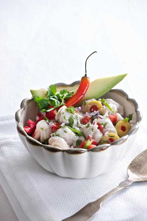 Ceviche de sierra a la mexicana, Mexican mackerel ceviche