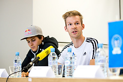 Domen Skofic and Anze Peharc at press conference of PZS before IFSC Climbing World Championships Hachioji (JPN) 2019, on August 1, 2019 in PZS, Ljubljana, Slovenia. Photo by Matic Klansek Velej / Sportida