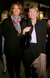 Left to right, MRS CATHERINE SOAMES and MRS SIMON SLATER, both close friends of the late Diana, Princess of Wales, at a party in London on 11th February 1999.MOI 17