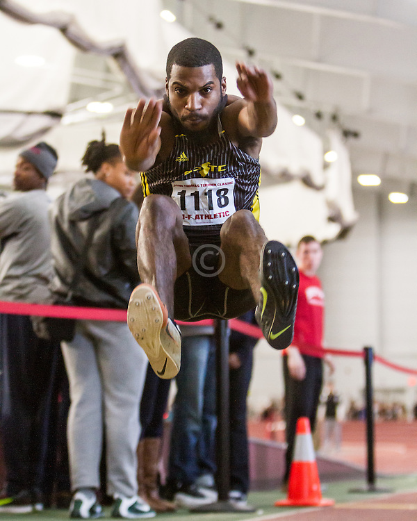 Boston University John Terrier Classic Indoor Track & Field: mens long jump, adidas GSTC, Kirkland