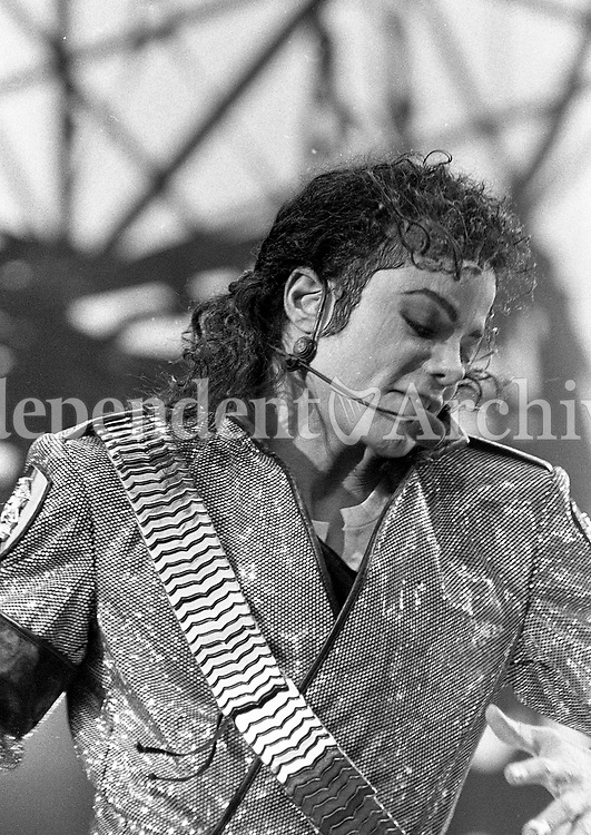 Michael Jackson on stage during his Concert in Lansdowne Road, Dublin, 25/07/1992 (Part of the Independent Newspapers Ireland/NLI Collection).