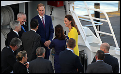 The Duke and Duchess of Cambridge aboard a boat taking them to Admiralty House in Sydney following their arrival in Australia, Wednesday, 16th April 2014 . Picture by  Andrew Parsons / i-Images