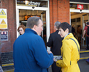Caroline Pidgeon, Liberal Democrat Mayoral candidate campaigning with former Liberal Democrat Leader and Deputy Prime Minister Nick Clegg MP at Putney railway station, London, Great Britain <br /> <br /> 4th May 2016 <br /> <br /> <br /> Photograph by Elliott Franks <br /> Image licensed to Elliott Franks Photography Services