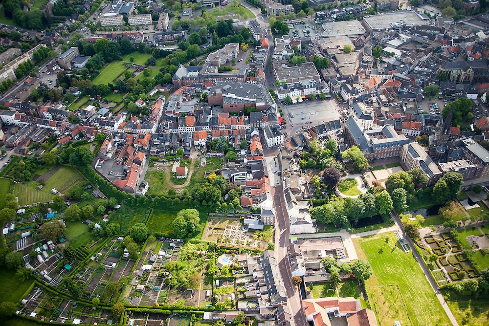Nederland, Limburg, Gemeente Sittard-Geleen, 27-05-2013; centrum van Sittard met Markt en Sint Michaelskerk,  Antiochekerk en Schootsvelden.<br /> Town centre Sittard.<br /> luchtfoto (toeslag op standaardtarieven);<br /> aerial photo (additional fee required);<br /> copyright foto/photo Siebe Swart.