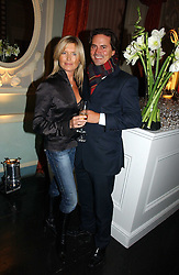 Actress TINA HOBLEY and her husband OLIVER WHEELER at a party hosted by Westfield and the British Fashion Council to celebrate Fashion Forward held at Home House, 20 Portman Square, London W1 on 30th January 2007.<br />