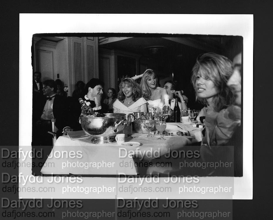 Ali Wauchope & Christian Rucker. Rose Ball. Grosvenor House. 19 May 1988.