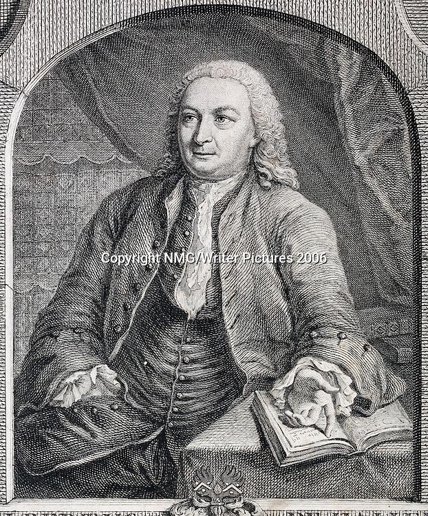 Albrecht von Haller (1708-77) Swiss Anatomist and botanist<br /><br />Copyright NMG/Writer Pictures<br />contact +44 (0)20 8241 0039<br />sales@writerpictures.com<br />www.writerpictures.com