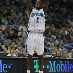 Nov 19, 2009; New Orleans, LA, USA;  New Orleans Hornets guard Darren Collison (2) shoots during the second quarter against the Phoenix Suns at the New Orleans Arena. Mandatory Credit: Derick E. Hingle-US PRESSWIRE