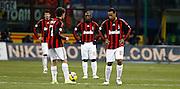 """Delusioned Milan players.Milano 15/2/2009 Stadio """"Giuseppe Meazza"""".Campionato Italiano Serie A.Inter Milan."""