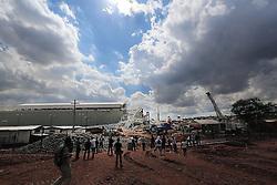 28.11.2013, Itaquerao Stadion, Sao Paulo, BRA, Itaquerao Stadion zerstoert, beim Bau des WM-Stadions in Sao Paulo ist es zu einem Unfall gekommen. Drei Bauarbeiter starben. Auch die pünktliche Fertigstellung des Stadions ist gefährdet, im Bild das zerstoerte Itaquerao Stadion // the construction of the World Cup stadium, Sao Paulo, there has been an accident Three construction workers died The timely completion of the stadium is at risk, Sao Paulo, Brazil on 2013/11/28. EXPA Pictures © 2013, PhotoCredit: EXPA/ Photoshot/ RAHEL PATRASSO<br /> <br /> *****ATTENTION - for AUT, SLO, CRO, SRB, BIH, MAZ only*****