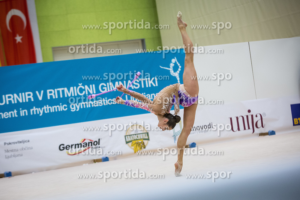 Mamun Margarita of Russia competes during 29th MTM - International tournament in rhythmic gymnastics Ljubljana, on March 12, 2016 in gymnastics center Ljubljana, Ljubljana, Slovenia.  Photo by Grega Valancic / Sportida