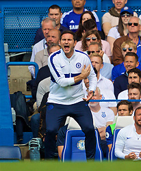 LONDON, ENGLAND - Sunday, August 18, 2019: Chelsea's new manager Frank Lampard during the FA Premier League match between Chelsea's  FC and Leicester City FC at Stamford Bridge. (Pic by David Rawcliffe/Propaganda)