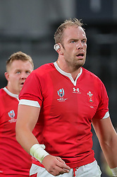 "November 1, 2019, TóQuio, Japão: TÃ""QUIO, TO - 01.11.2019: RUGBY WORLD CUP 2019 ALL BLACKS X WALES - Alun Wyn Jones nominated for Best Rugby World Cup 2019 Player. Match valid for the Rugby World Cup 2019 bronze medal match between All Blacks (New Zealand) and Wales (Wales) held at TOKYO STADIUM in Tokyo, JPN  (Credit Image: © Bruno Ruas/Fotoarena via ZUMA Press)"