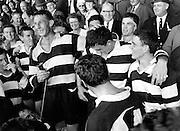 Kel Tremain celebrates after Hawkes Bay win the Ranfurly Shield. 1967.  Photo: Photosport.co.nz
