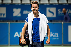 Constant Lestienne (FRA) celebrates after winning during 2nd Semifinal match at Day 8 of ATP Challenger Zavarovalnica Sava Slovenia Open 2018, on August 10, 2018 in Sports centre, Portoroz/Portorose, Slovenia. Photo by Vid Ponikvar / Sportida