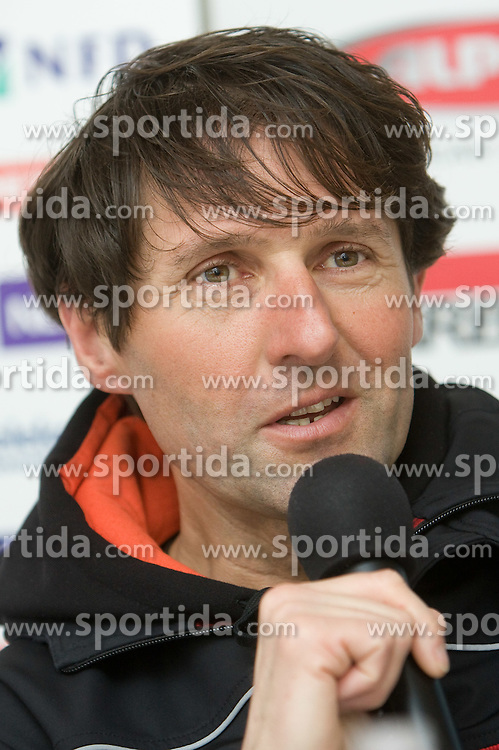 Coach Andrea Massi at press conference after Slovenian T. Maze won silver medal at Ski World Championships Val d'Isere 2009, on February 16, 2009, in Hotel Larix, Kranjska Gora, Slovenia. (Photo by Vid Ponikvar / Sportida)