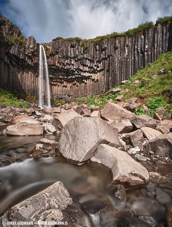 Svartifoss waterfall. Taken in South-east Iceland
