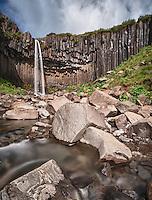 Svartifoss waterfall. Taken in South-east Iceland