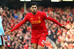 Emre Can of Liverpool celebrates after scoring his sides second goal  - Mandatory by-line: Matt McNulty/JMP - 12/03/2017 - FOOTBALL - Anfield - Liverpool, England - Liverpool v Burnley - Premier League