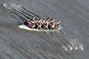 Chiswick. GREAT BRITAIN,  Oxford Brooks Uni. BC. 'A' , approaching the start, from, Chiswick Bridge, during the 2007 Women's Head of the River Race,  raced over the Championship Course, [reverse] on the River Thames, London, on SAT 17.03.2007,  [Photo Peter Spurrier/Intersport Images]  [Mandatory Credit, Peter Spurier/ Intersport Images]. , Rowing Course: River Thames, Championship course, Putney to Mortlake 4.25 Miles,