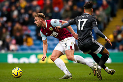 Charlie Taylor of Burnley takes on Ayoze Perez of Leicester City - Mandatory by-line: Robbie Stephenson/JMP - 19/01/2020 - FOOTBALL - Turf Moor - Burnley, England - Burnley v Leicester City - Premier League
