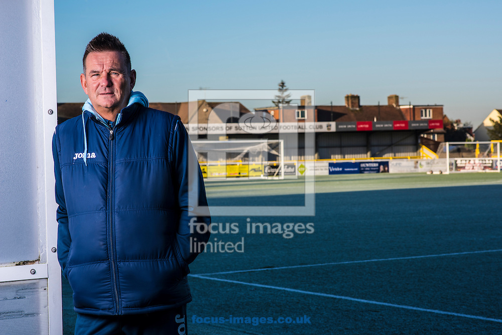 Manager Paul Doswell of Sutton United pictured at their Borough Sports Ground, Sutton.<br /> Sutton play AFC Wimbledon in the third round of the FA Cup on Saturday January 7th.<br /> Picture by Daniel Hambury/Focus Images Ltd 07813022858<br /> 05/01/2017