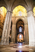 Spain, Seville, Cathedral interior